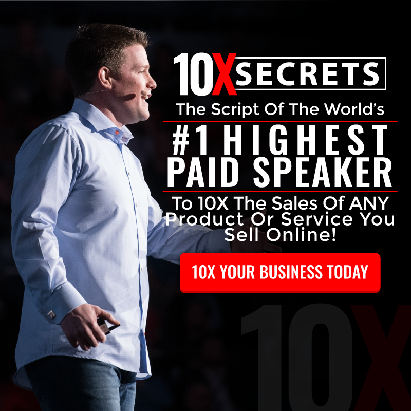 Link To Sell the 10X Secrets ClickFunnels Masterclass And Make 40% On All Upsells!
